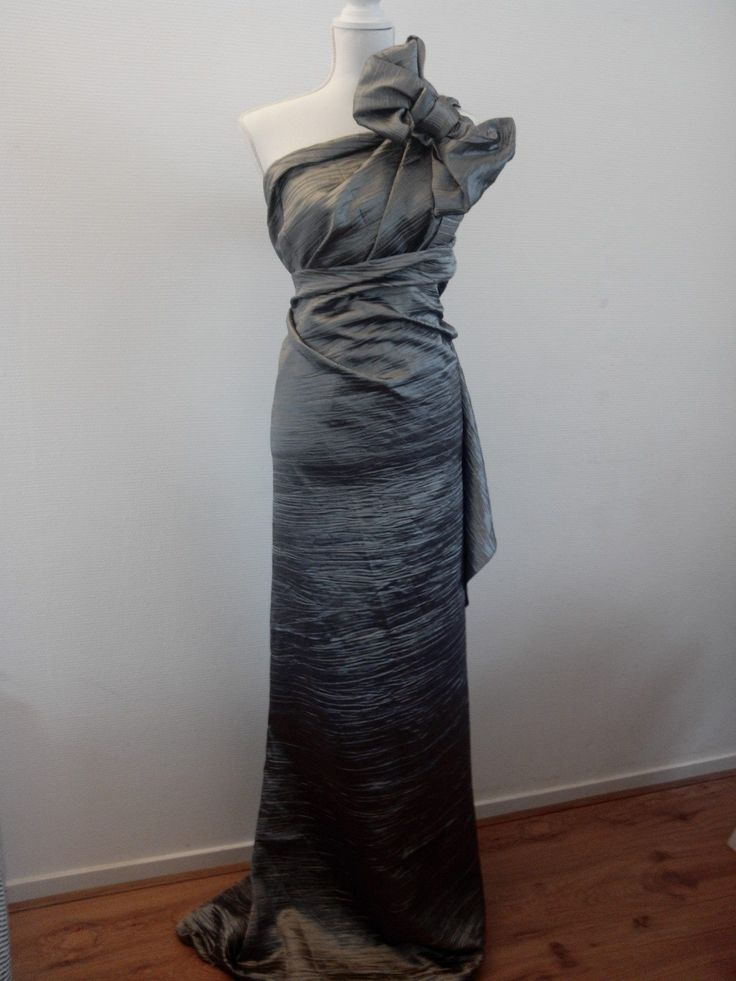 Couture dress, unique pieces! Made of waste textile from a curtain manufacturer