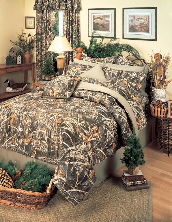 realtree max 4 camo comforter set camobedding cabin hunting decor