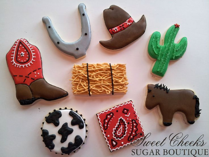 Western themed cookies for a birthday party. Happy Birthday Karen!
