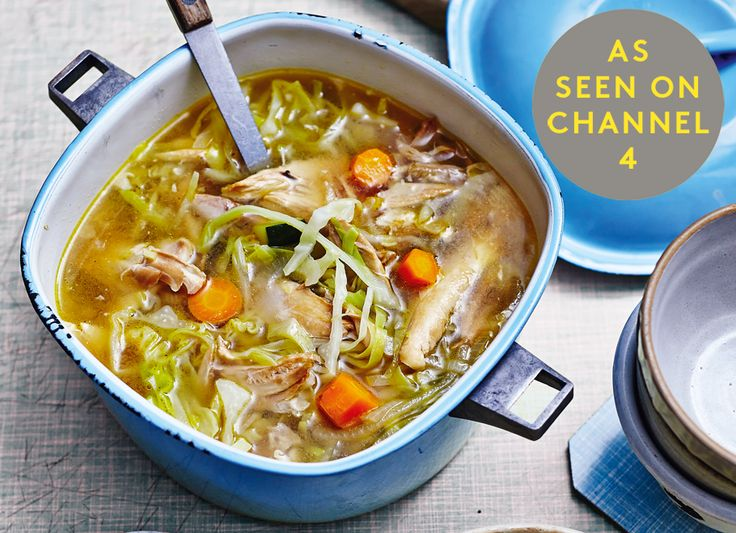 RECIPE FROM THE ART OF EATING WELL. AVAILABLE FROM:AMAZON  WATERSTONES  HIVE How To 1. In a large saucepan, cover the chicken with filtered water (approximately 3 litres) and slowly poach on a medium heat until the chicken is cooked through