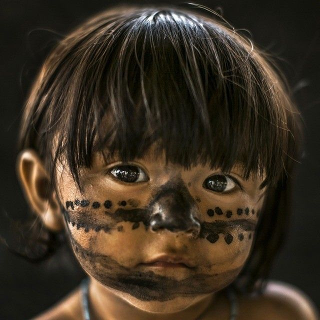 Ricléia Saw, 1. For the Munduruku, an Amazon tribe, the design of the face paint meant to evoke the shell of a tortoise.