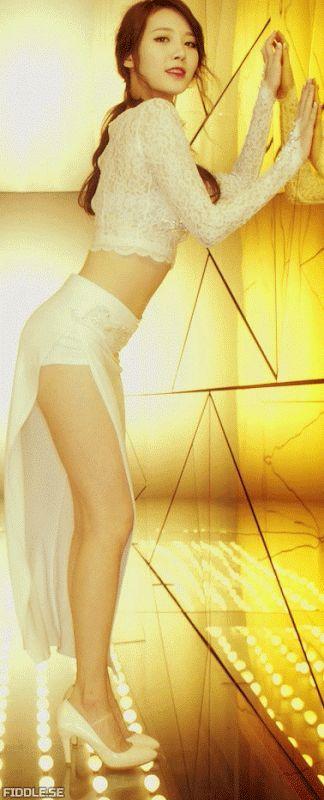 [girls day Yura] White Side opening Dress   [girls day Yura] White Side opening Dress  girl's day