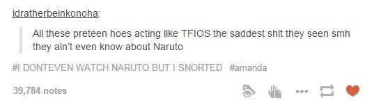 On Naruto. | Community Post: 33 Times The Anime Side Of Tumblr Was Pretty OK After All