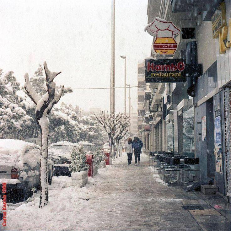 Χιόνια στην πλατεία