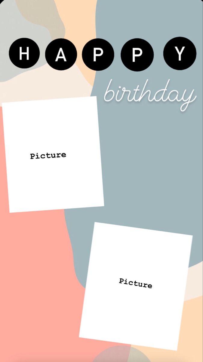 Happy Birthday Instagram Story Template Ilustrasi Kartu Ucapan Kartu Ulang Tahun Background Ulang Tahun