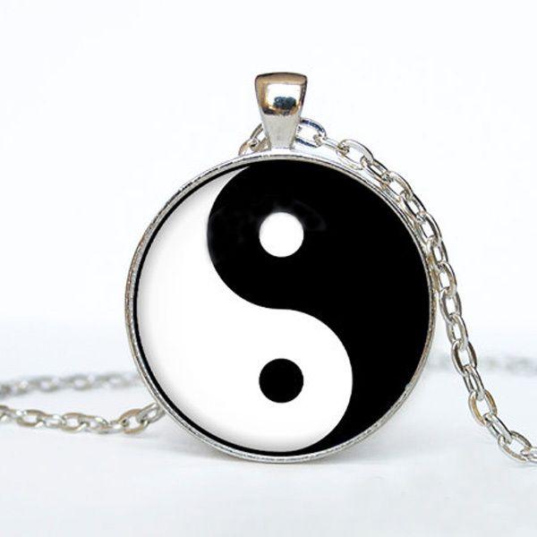 Винтажный инь ян кулон ожерелье марка инь ян ожерелья подвески ретро время камни кулон ожерелье для мужчины, Мужчины ювелирные изделия