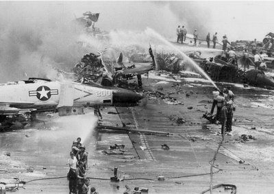 The one thing that the McCain campaign does not want to see released is the record of McCain's antics on board the USS Forestal in 1967. McCain was personally responsible for the deadliest fire in the history of the US Navy. That catastrophe, with 27 dead and over 100 wounded trumps McCain's record as a prisoner of war in North Vietnam.