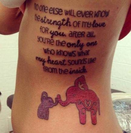 67+ New Ideas For Tattoo Elephant Mother Daughter Children