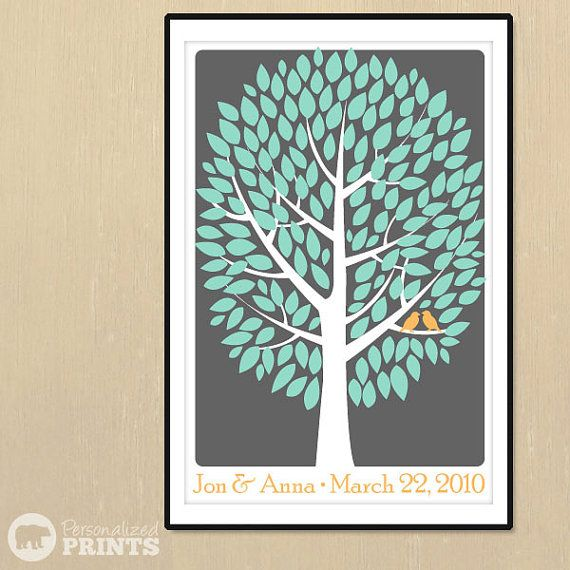 Instead of a guest book - Your guests sign the individual leaves on the tree, and then you can hang it as a beautiful keepsake in your home!