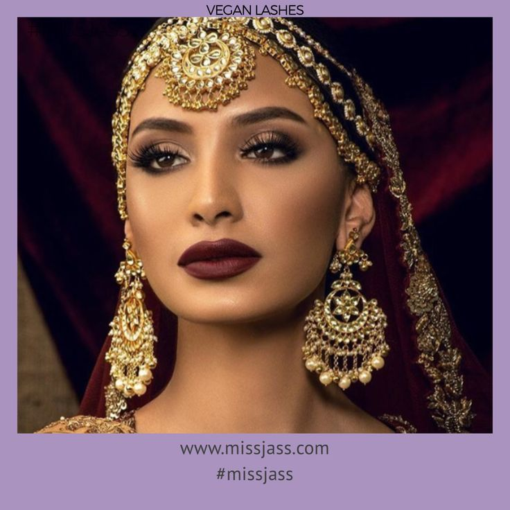 Bridal Fashion Jewelry Image By MissJass Beauty- Eyelashes