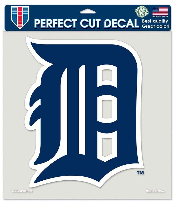 Detroit Tigers MLB 8u2033x8u2033 Die Cut Color Decal