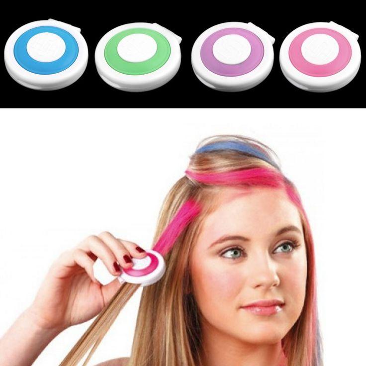 1 conjunto de 4 cores de cabelo cabelo cakeTemporary em pó pó de giz Dye pastéis suaves salão do natal DIY alishoppbrasil