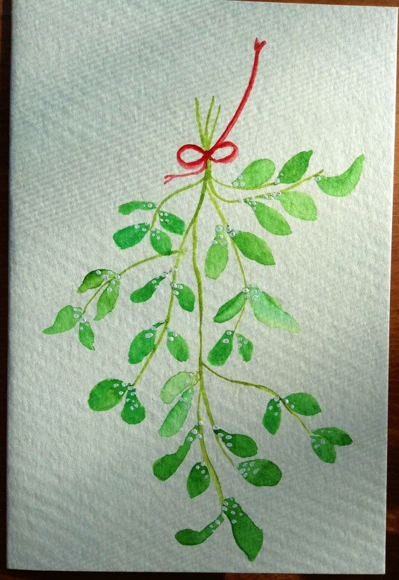 Hand painted original watercolor greeting card by DreamStrokes
