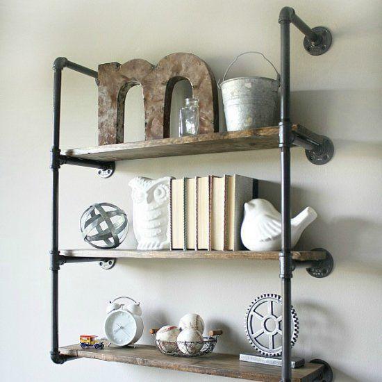 die besten 25 rustikale wandregale ideen auf pinterest wandregal holz rustikal innen palette. Black Bedroom Furniture Sets. Home Design Ideas
