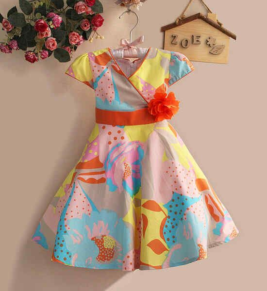 Dress Anak Zara Motif Bunga Oranye Usia 3-4-5-6 tahun - http://keikidscorner.com/baju-anak-perempuan/baju-dress/dress-anak-zara-motif-bunga-oranye-usia-3-4-5-6-tahun.html