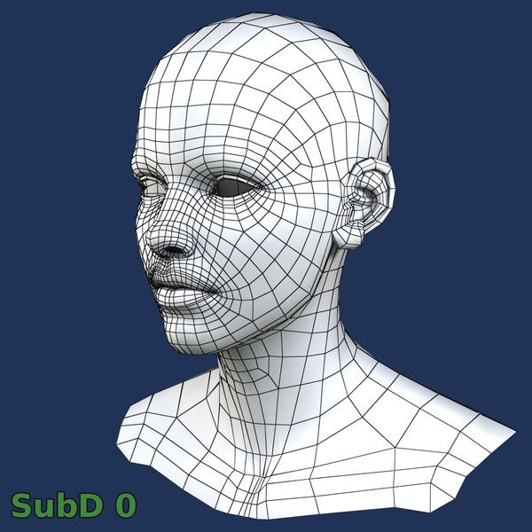 The 35 best Comparisons - Face - Topology / Wireframe images on ...