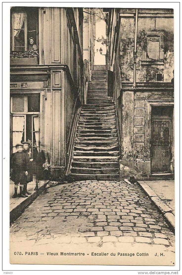 Escalier du Passage Cottin, n.d.