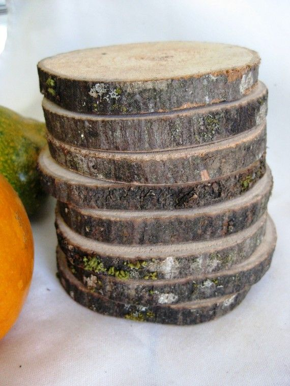 Coasters  Set of 8  Made From a Fallen Tree by thisfineday on Etsy, $20.00