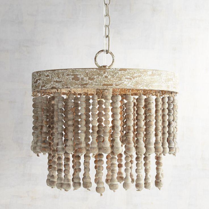 Best 25+ Wood bead chandelier ideas on Pinterest