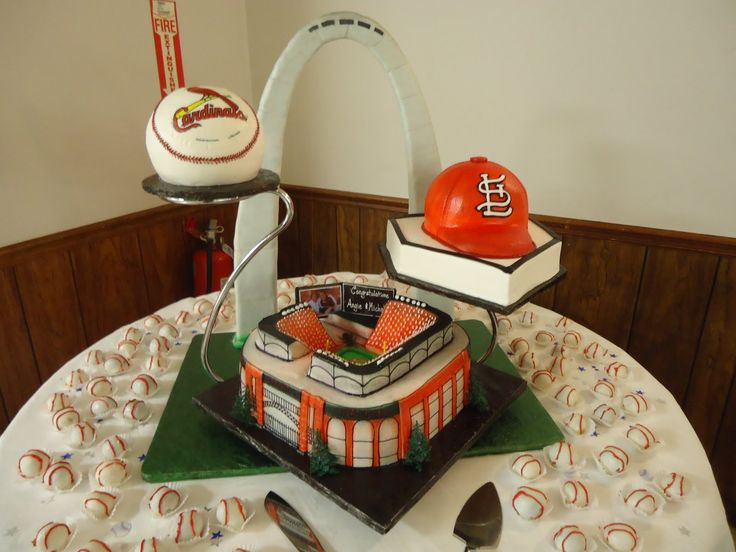 1000+ Images About St. Louis Cardinals Cakes On Pinterest