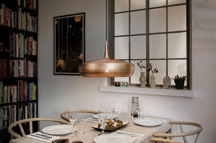 """Clava Dine is a stunning yet discreet VITA lampshade that frames the dining table and invites you in for a cosy night with friends and family,"" says VITA copenhagen founder and Chief Creative Developer Søren Ravn Christensen."