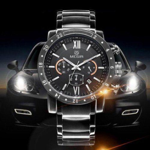 MEGIR Luxury Japan Quartz Male Watch Date Function Water Resistance Wristwatch #MEGIR #LuxurySportStyles