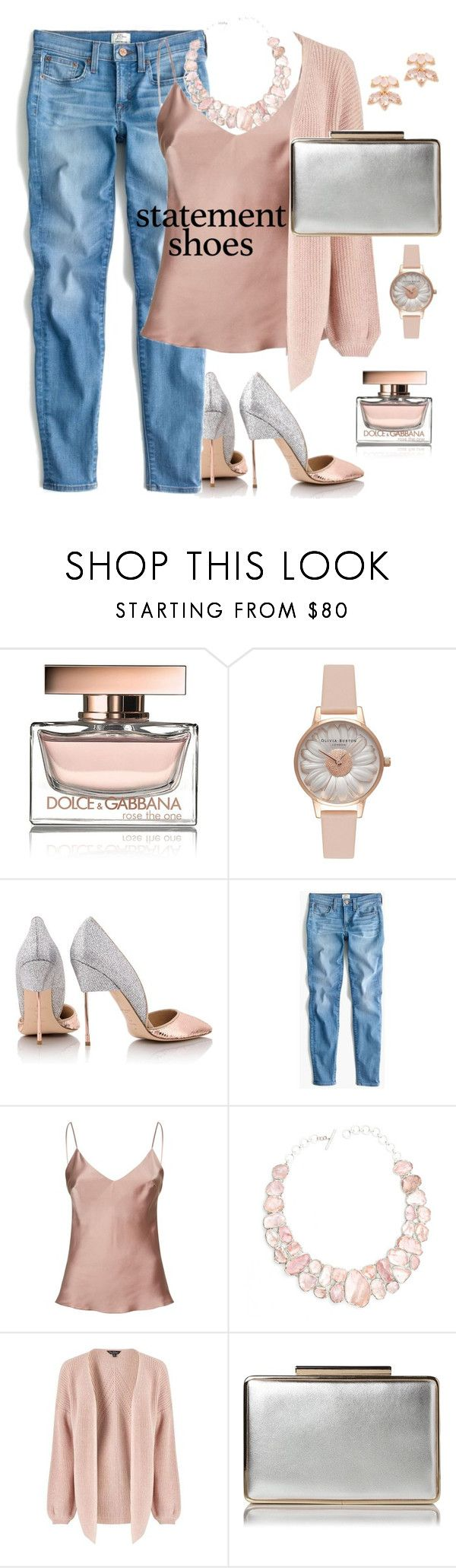 """statement shoes"" by nineseventyseven ❤ liked on Polyvore featuring Dolce&Gabbana, Olivia Burton, Kurt Geiger, J.Crew, Gilda & Pearl, Poppy Jewellery, Miss Selfridge, L.K.Bennett and Kate Spade"