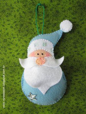 Vanessa Biali: Aprenda a fazer um Papai Noel em Feltro para sua árvore de Natal