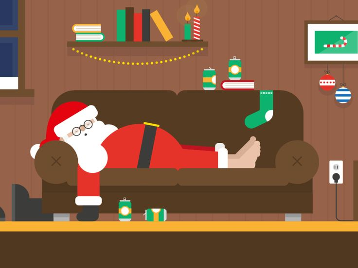 I wish you an Explosive Xmas and a Happy New Year! :)  #design #gif #santa