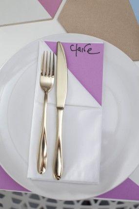 Knot & Pop Weddings - Geometric Goodies - Table Setting
