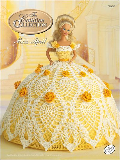 Crochet - Doll Patterns - Bed Doll Patterns - The Cotillion Collection Miss April 1992
