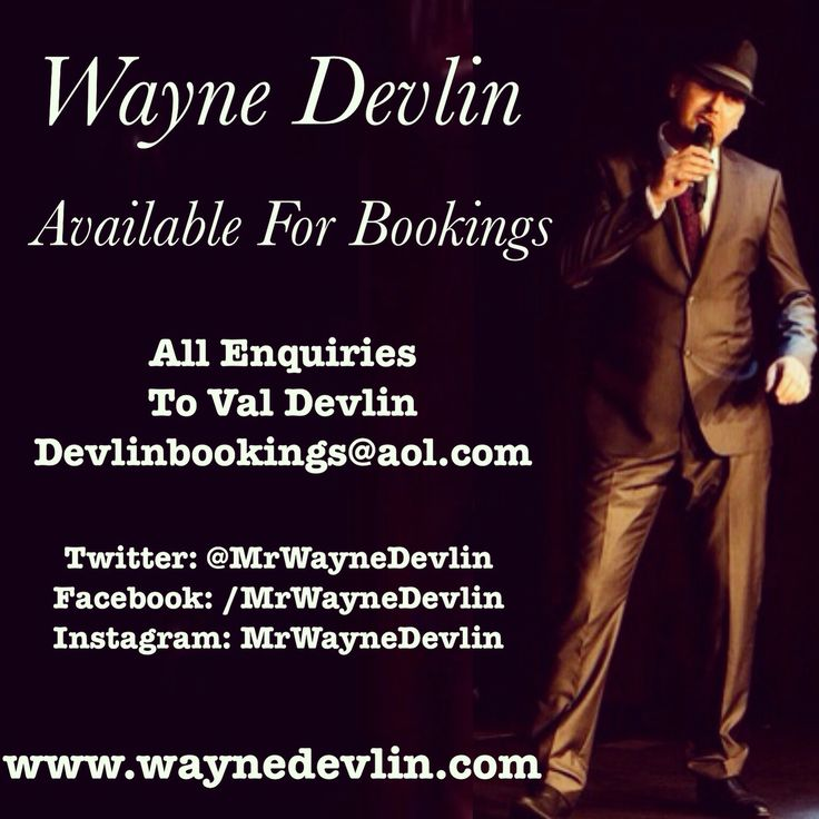 Details to contact me for bookings.