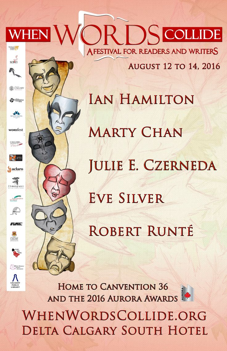 When Words Collide Festival 2016 features Five Rivers Senior Editor, Robert Runté, as Editor Guest; Publisher Lorina Stephens will also be in attendance. Five Rivers will be holding pitch sessions, blue pencil cafés, a book session, and likely a launch or two, as well as participating on panels at this excellent writers' convention.
