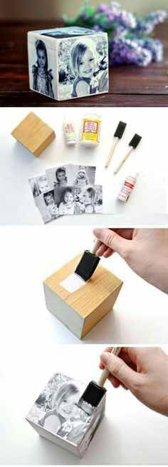 make sure you glue false pics' on each side like in new picture frames and it will look better than a block of wood!