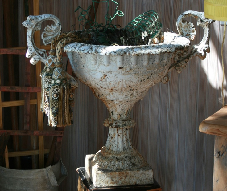 Fabulous Antique French Two Handled Cast Iron Urn