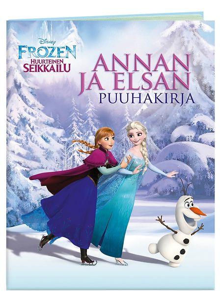 Frozen, Annan ja Elsan puuhakirjassa pääset luistelemaan huurteiseen seikkailuun ja värittämään kuvia, yhdistämään pisteet, etsimään oikeaa reittiä, keksimään tekstit puhekupliin ja ratkaisemaan monia muita tehtäviä! Hauskojen puuhien parissa vierähtää monta taianomaista tovia.