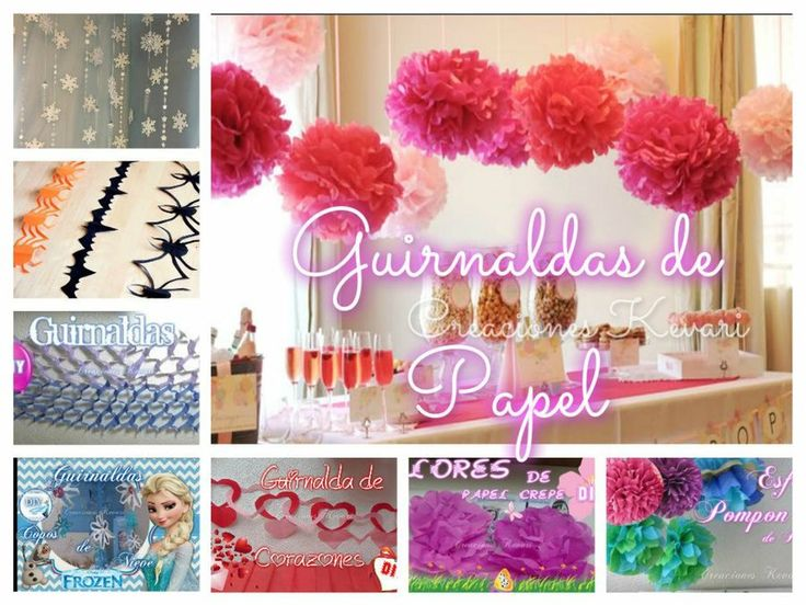 7 guirnaldas de papel para decorar tus fiestas blog - Papel para decorar pared ...