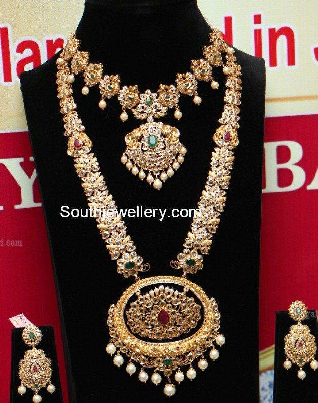 Uncut Diamond Necklace and Long Haram