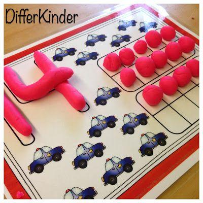 Number Playdough Mats with Ten Frames (from A Differentiated Kindergarten)