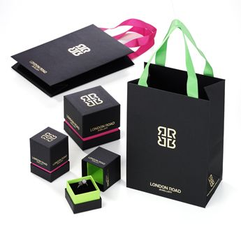 Jewellery Packaging - Stunning, Gold Foiled, Velvet Lined Jewellery Boxes