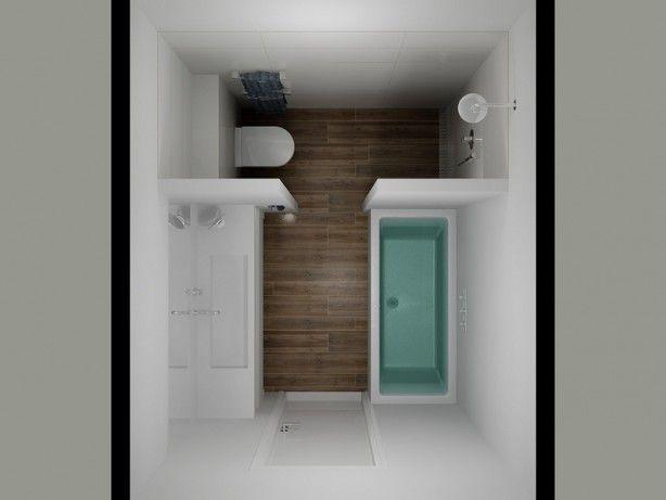 Mooie indeling voor een kleine badkamer