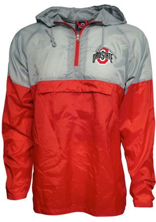 Ohio State Buckeyes Mens Grey Packable Light Weight Jacket ... 464303990