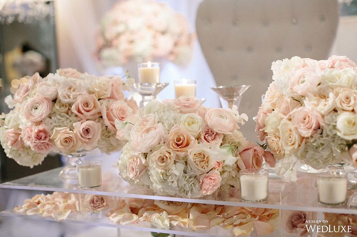 WedLuxe– The Bride Wore Vera Wang at this Embassy Grand Wedding |  Follow @WedLuxe for more wedding inspiration!