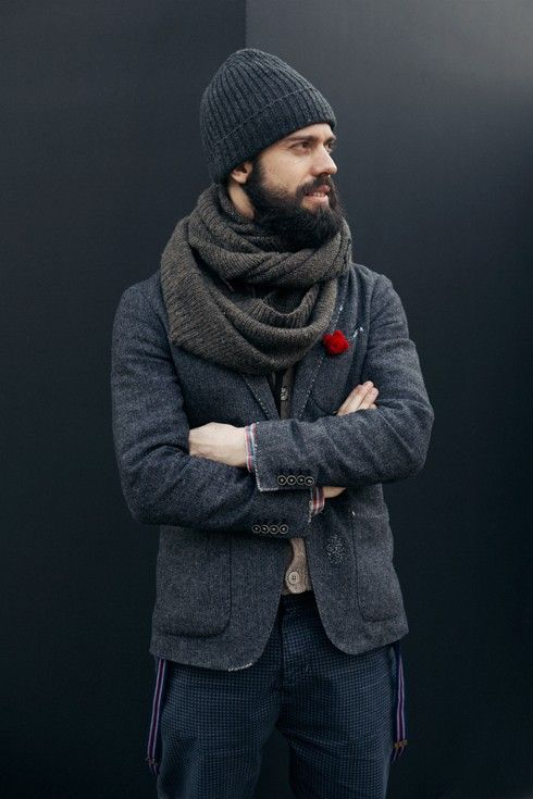 Love the variety of textures within knitwear.