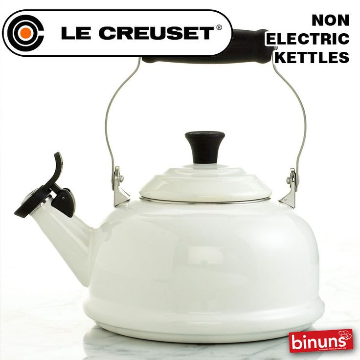 LE CREUSET NON-ELECTRIC KETTLES Kettles are truly a kitchen essential. Le Creuset brings you traditional styling combined with 21st century technology. These enamelled, steel stove-top kettles are sure to bring a whistle of delight, offering premium Le Creuset craftmanship in heavy-gauge steel. Tea kettles are available in various innovative designs, offering a charming touch to any stovetop.  http://www.binuns.co.za/Brands/LeCreuset/KettlesNonElectric.aspx