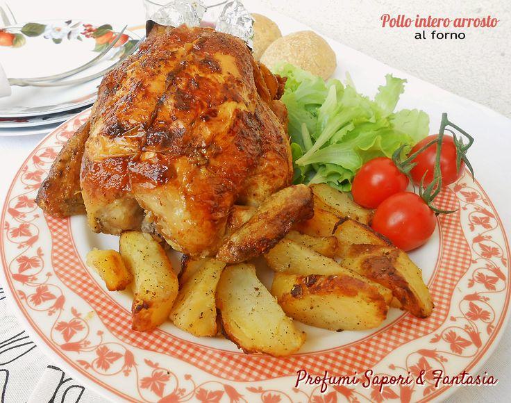 Preparare il pollo intero arrosto al forno è un procedimento molto facile, il condimento rende il pollo saporito e profumato, la cottura in forno.. dorato.