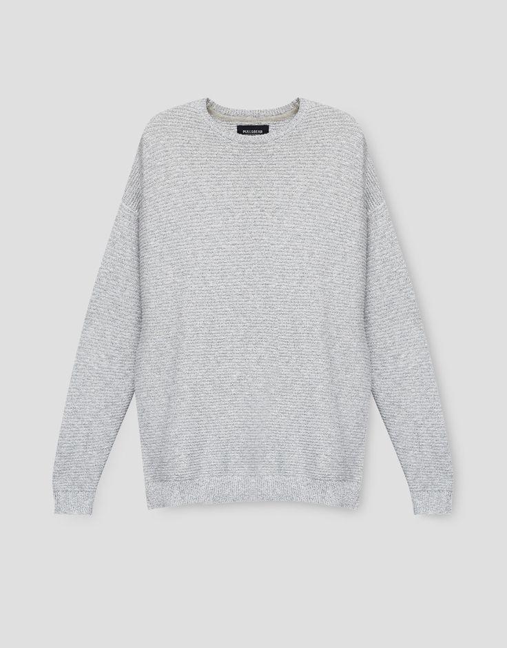 Camisola com estrutura oversize (cinzento): PULL&BEAR (9,99€)