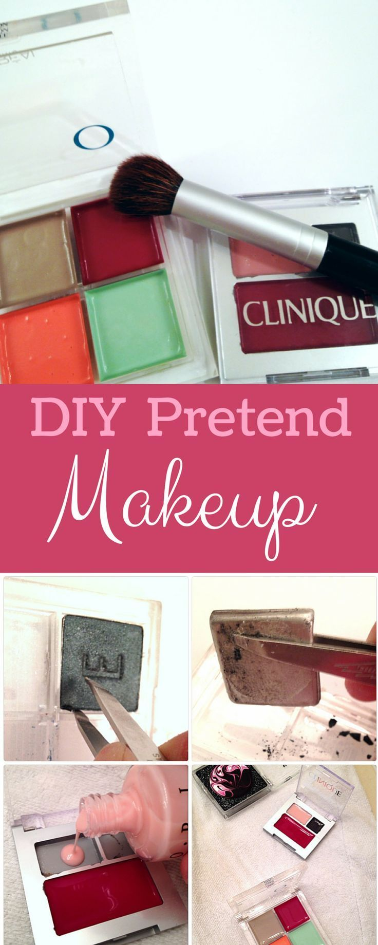 Turn your old makeup into fun pretend play for your toddler! This was a huge hit with my daughter and so easy to make!