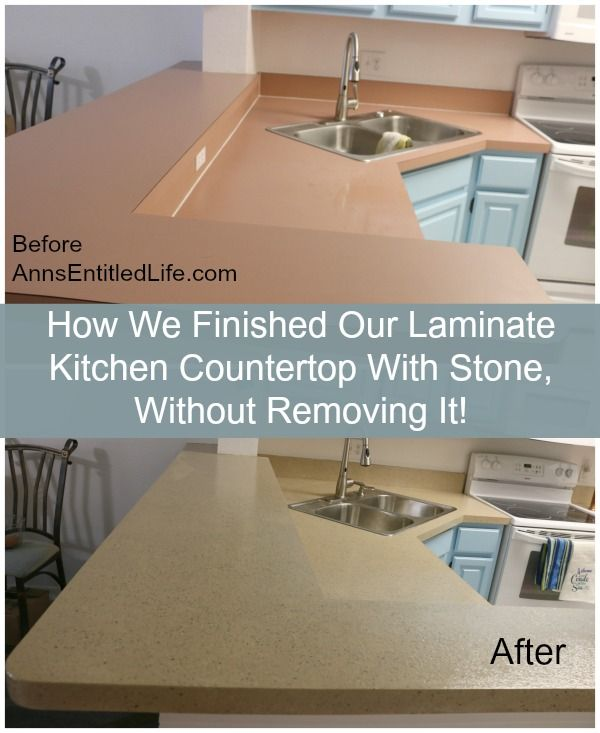 How We Finished Our Laminate Kitchen Countertop With Stone ...