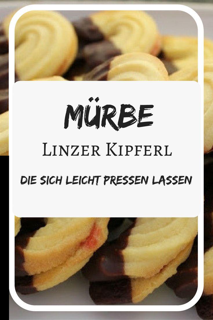 Mürbe Linzer Kipferl, leicht zu pressen, ohne Butter